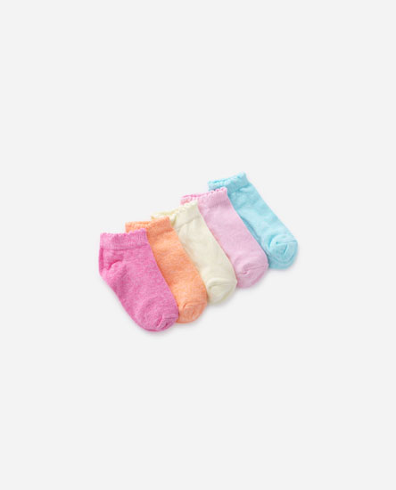 Pack de 5 pares de meias coloridas