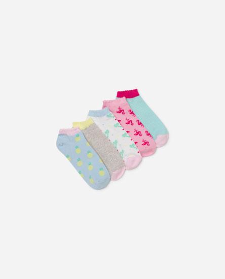 Pack of 5 printed socks