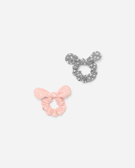 Pack of polka dot scrunchies