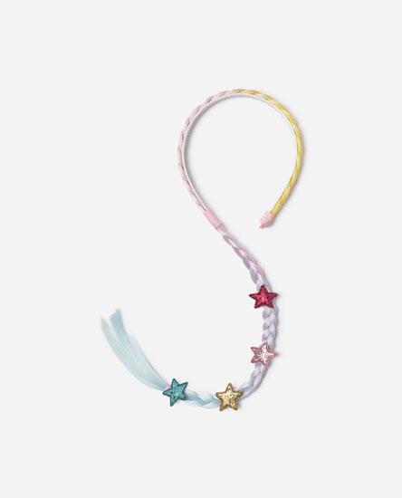 Headband with long braid