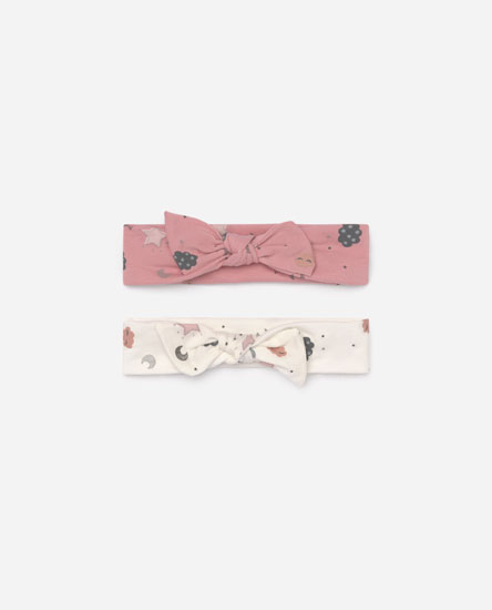 Pack of 2 moon and star print bandanas