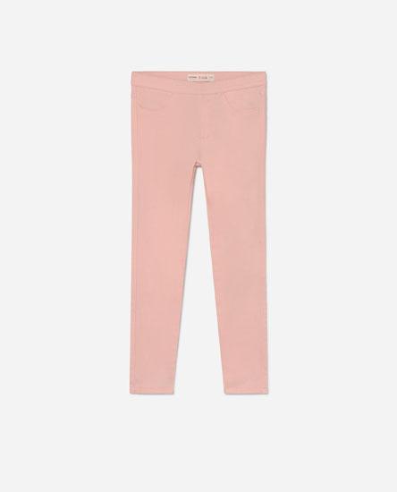 Coloured denim leggings