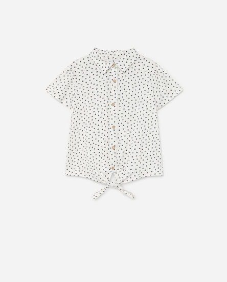 Printed shirt with bow