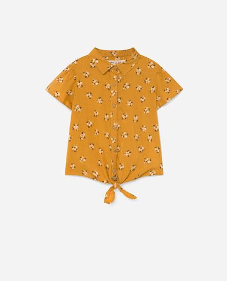 Camisa estampada lazo