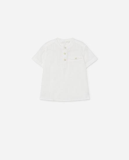 Stand-up collar shirt