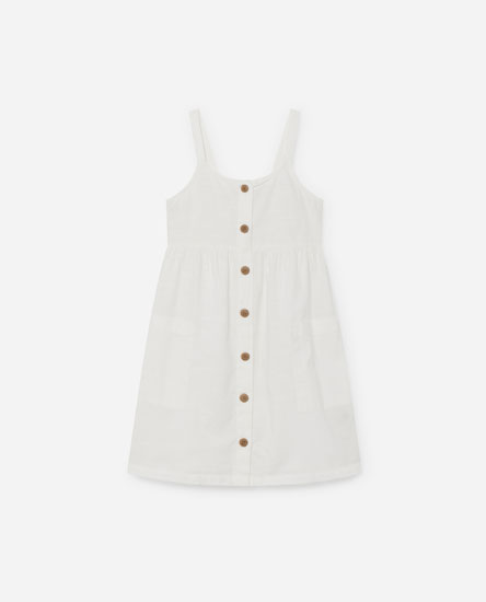 Dress with front buttons