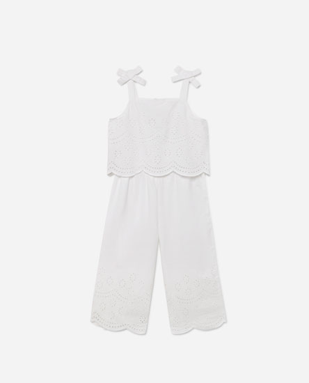Swiss-embroidered jumpsuit