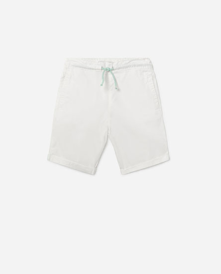 Basic cotton bermuda shorts