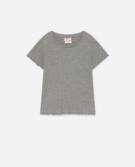 T-shirt de malha canelada
