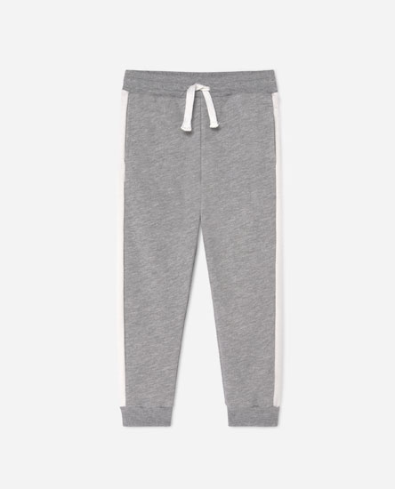 Plush joggers with contrast stripes