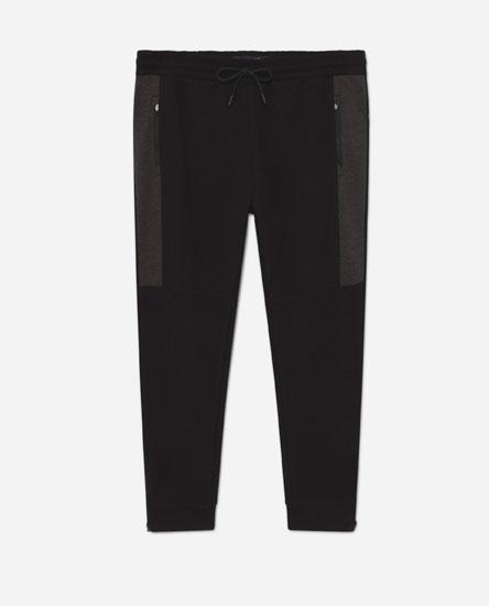 Slim fit plush trousers