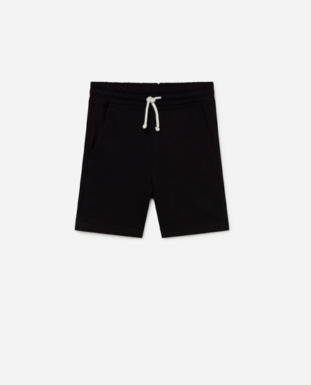 Plush bermuda shorts