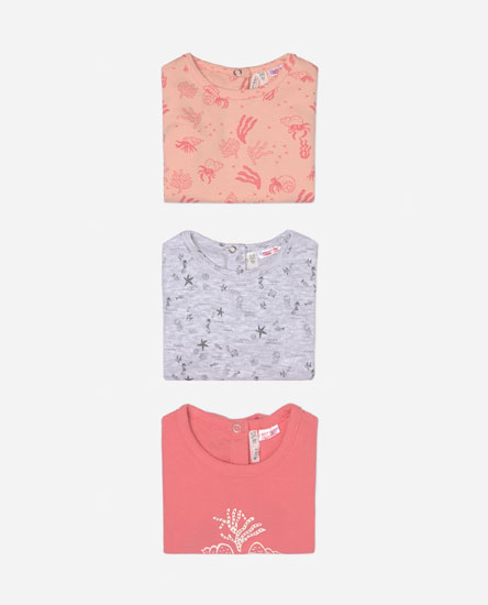 Pack of 3 short sleeve sleepsuits