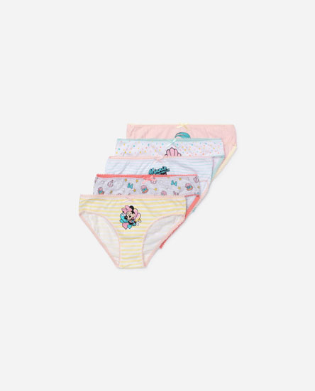 5-pack of minnie mouse seashell print briefs © Disney