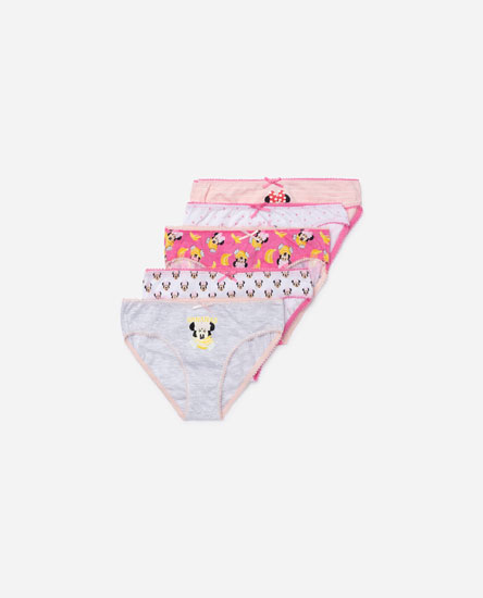 5-pack Of Minnie Mouse Fruit Print Briefs © Disney