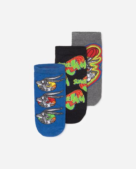 Pack de 3 calcetines tobilleros Space Jam