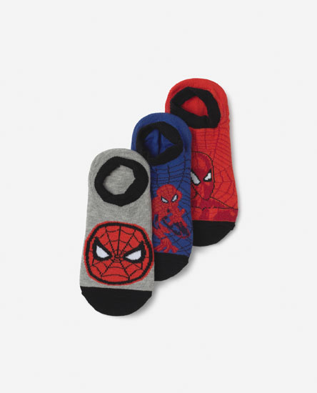 3-PACK OF SPIDERMAN NO-SHOW SOCKS