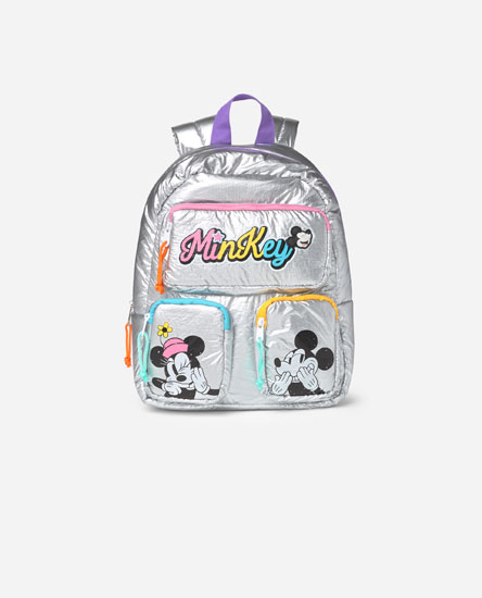 Metallic Minnie and Mickey Mouse Backpack