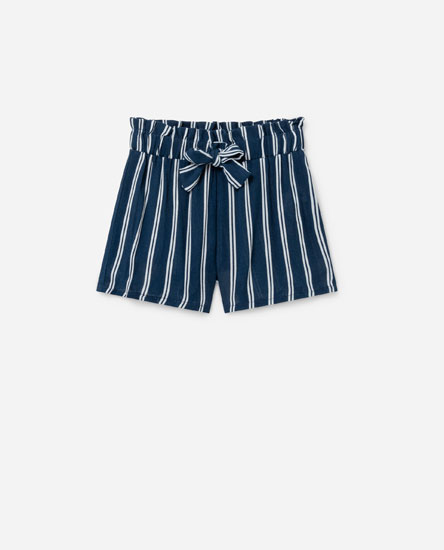 Striped flowing shorts