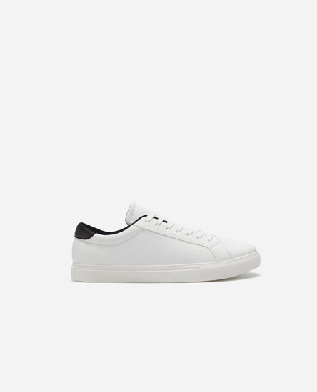 Basic sneakers with perforated detail