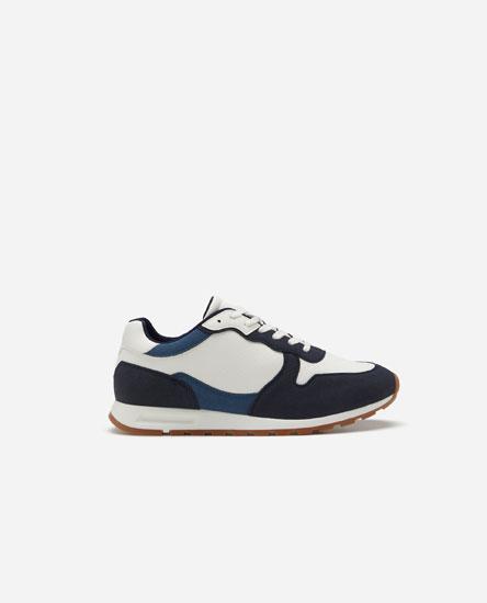 Smart contrast sneakers