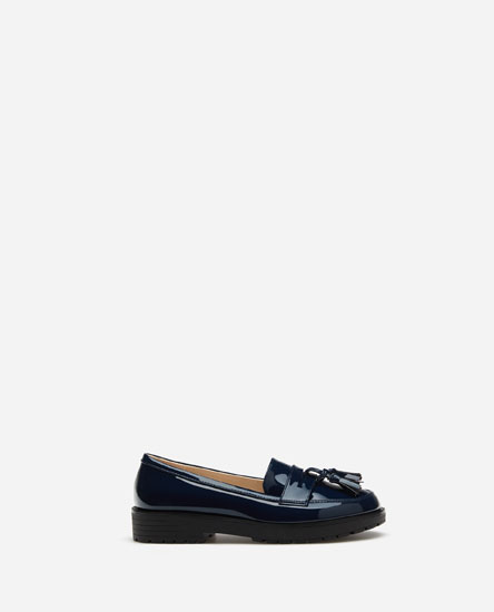 Track sole loafers