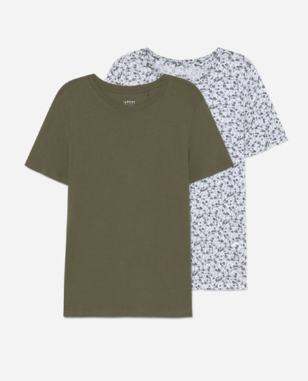 Pack of 2 round neck T-shirts