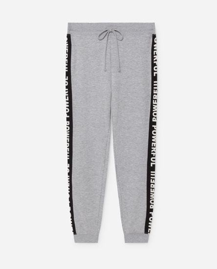 Joggers with side print