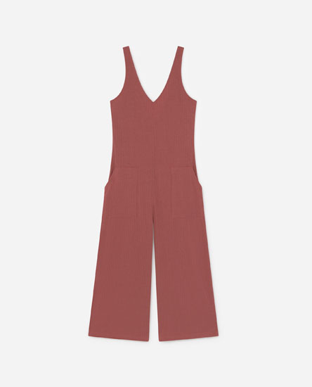 Long ribbed jumpsuit