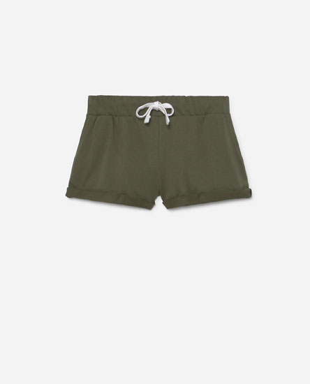Coloured plush shorts