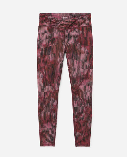 Printed leggings with wrap waist