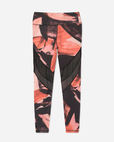 Printed mesh leggings