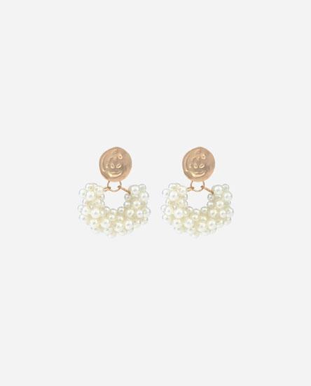 Arracades de cèrcol perles