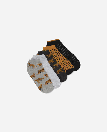 Pack calcetines leopardo