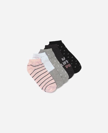 Pack of 5 embellished socks