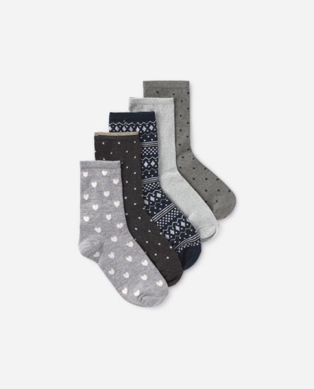 Pack of 5 glitter socks