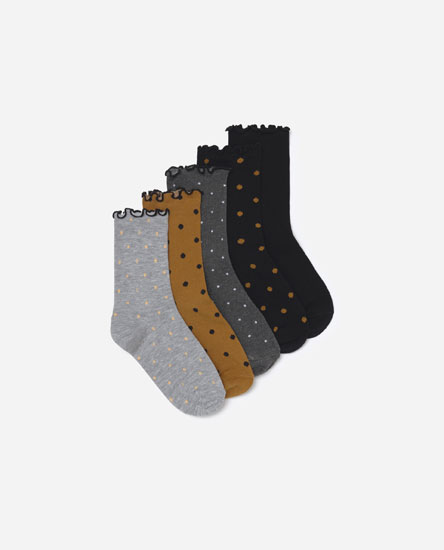Pack of polka dot socks