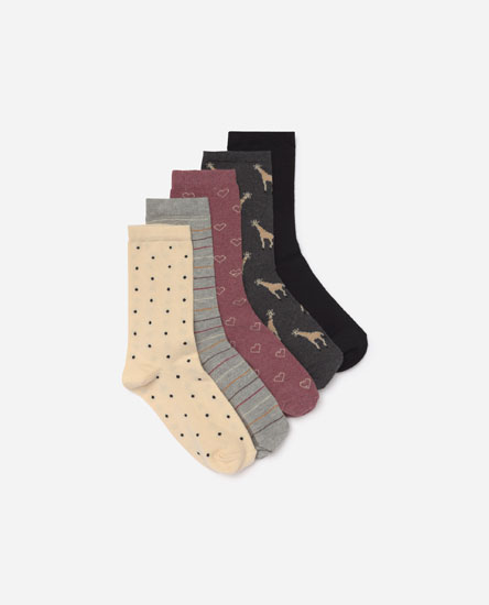 Pack of printed socks