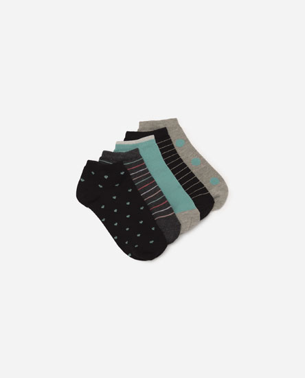 Pack of colour detail socks