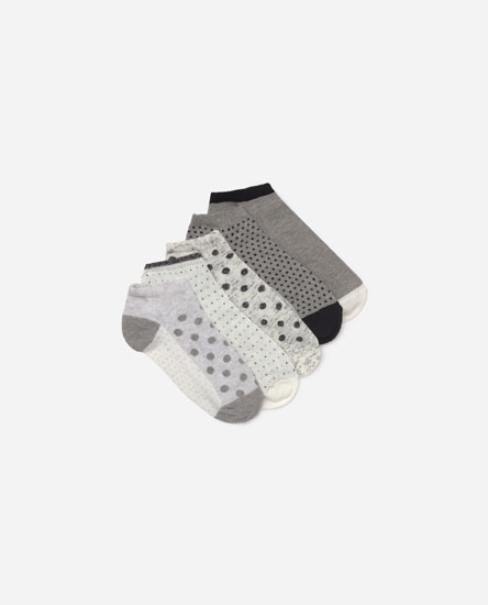 Pack of 5 polka dot socks