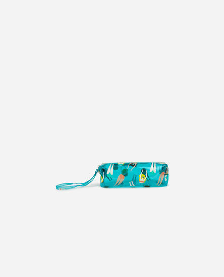 Swimmer print toiletry bag
