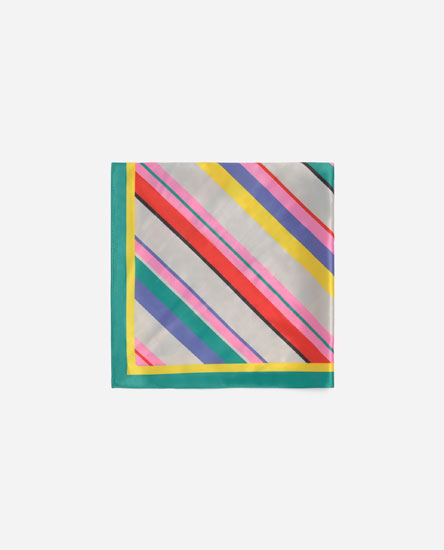 Striped satiny neckerchief