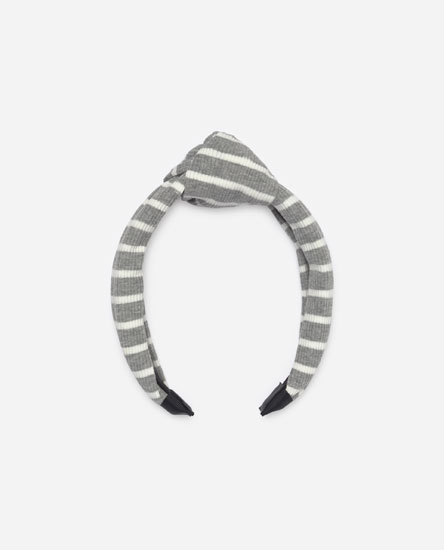 Ribbed headband with stripes