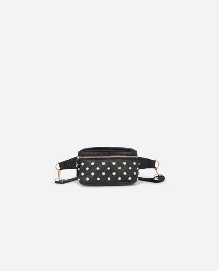 Bolsa de cintura com pérolas