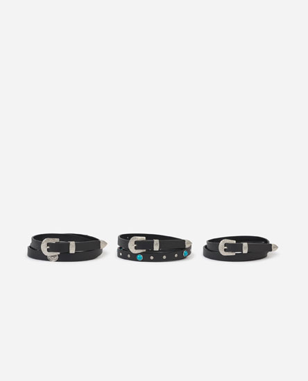 Pack of belts with details