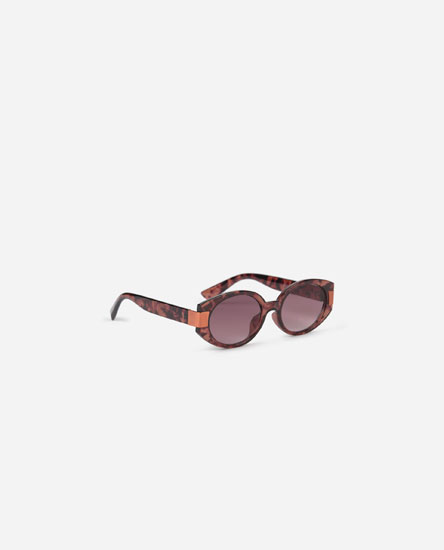 Printed cateye sunglasses