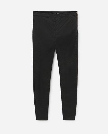 Jeans coated cremallera