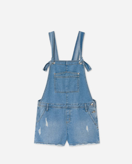Dungarees with knotted straps