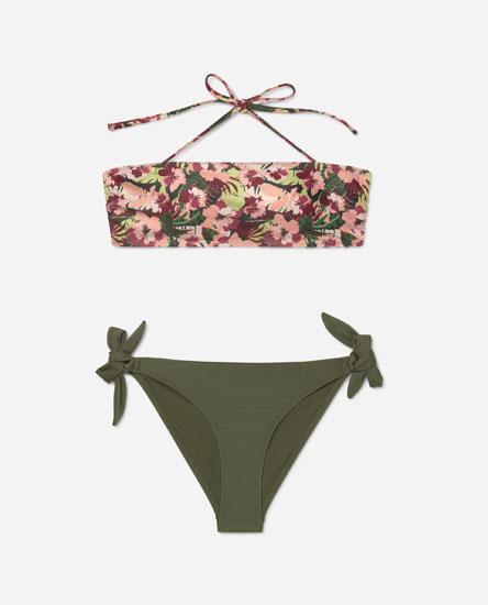 Printed bikini top set