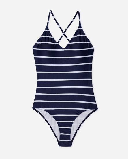 Navy swimsuit